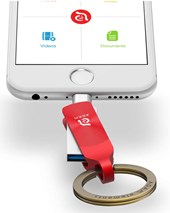 iKlip Duo+  Lightning Flash Drive 64GB - Red