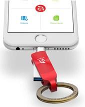 iKlip Duo+  Lightning Flash Drive 64GB - Red
