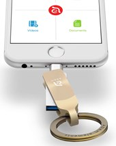 iKlip Duo+  Lightning Flash Drive 64GB - Gold