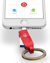 iKlip Duo+  Lightning Flash Drive 128GB - Red