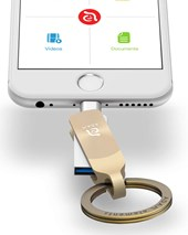 iKlip Duo+  Lightning Flash Drive 128GB - Gold