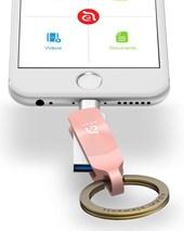iKlip Duo+  Lightning Flash Drive 128GB - Rose Gold