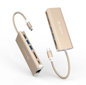 CASA Hub A01 - USB 3.1 Type-C 6-in-1 Multi-Function Hub - Gold
