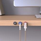 Gravity G1 Magnetic Cable Holder Set - Black/Red/Blue