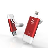 iKlip II Lightning Flash Drive 64GB - Red
