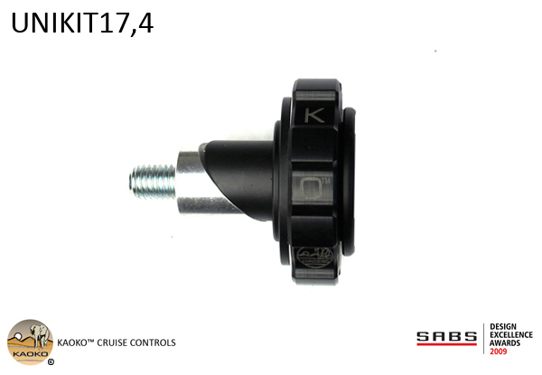 KAOKO™ Cruise Control for KAWASAKI KLR650A (with or without OEM handguards; also for use with Barkbusters hand guards that do not include item BEW (Code B56) in their product kit: suitable for VPS & Storm Plastics); SUZUKI DL650 V-Strom and DL1000 V-Strom with Barkbusters that do not include item BE