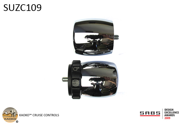 KAOKO™ Cruise Control for SUZUKI Boulevard C109R (2008), VLR1800T (C1800RT)  (incl. matching left hand side Bar-End Weight : Barrel shape with chrome finish)