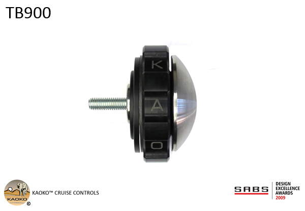 KAOKO™ Cruise Control for TRIUMPH THUNDERBIRD 900 / 900 Sport (1995 - 2004) - with stainless steel OEM bar end weights