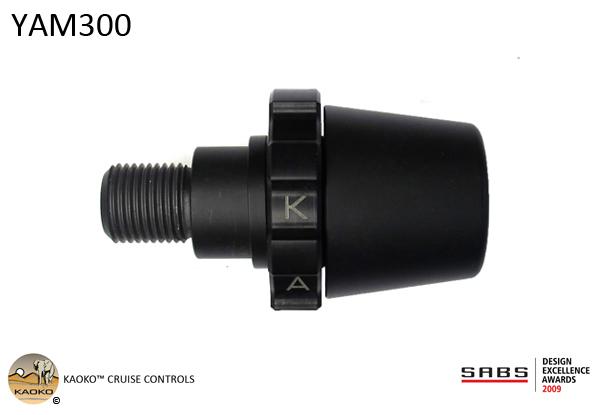 KAOKO™ Cruise Control for YAMAHA Fazer 1 & FZ1 (-2015), Fazer 6 & FZ6, TDM850, TDM900, XJR1200, XJ1300/XJR1300, MT01, XJ900/XJR900, XJ6 (2014-), FZ6R (2015-2016) (black finish)
