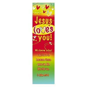 Picture of BOOKMARK PACK JESUS LOVES YOU JOHN 3:16*