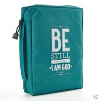 Picture of BIBLE BAG BE STILL LARGE TEAL