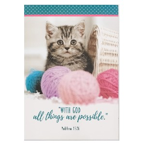Picture of NOTEPADS PET WITH GOD ALL THINGS ARE POSSIBLE