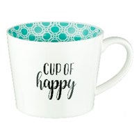 Picture of MUG CUP OF HAPPY TEAL