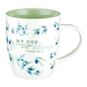 Picture of MUG MY CUP OVERFLOWS WITH BLESSING