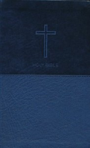Picture of NKJV VALUE THINELINE NAVY LEATHERSOFT BIBLE