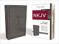 Picture of NKJV BIBLE DELUX GIFT COMFORT PRINT GRAY