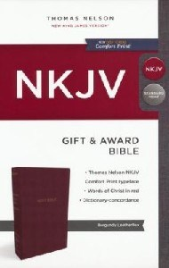 Picture of NKJV GIFT & AWARD BURGANDY COMFORT PRINT