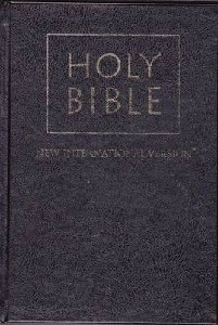 Picture of NIV STANDARD BIBLE H/C BALADECK BLACK