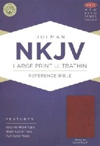 Picture of NKJV REFERENCE BIBLE ULTRATHIN LARGE PRINT BROWN L