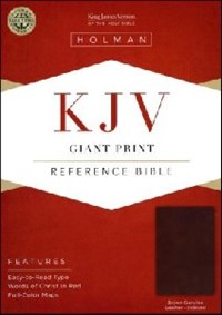 Picture of KJV REFERENCE BIBLE GIANT PRINT INDEXED BROWN LEAT
