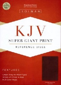 Picture of KJV REFERENCE BIBLE SUPER GIANT PRINT BROWN LEATHE