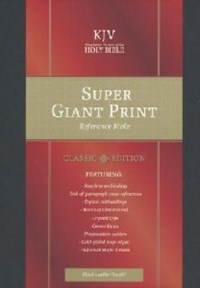 Picture of KJV REF BIBLE SUPER GIANT PRINT INDEXED BLK L/TOUC