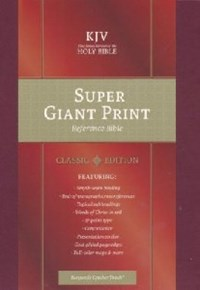 Picture of KJV REFERENCE BIBLE SUPER GIANT PRINT BURGANDY L/T
