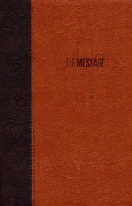 Picture of MESSAGE BIBLE BROWN LUXLEATHER