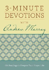 Picture of 3 MINUTE DEVOTIONS WITH ANDREW MURRAY